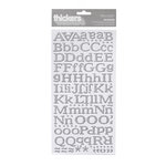 American Crafts - Hollyday Collection - Christmas - Thickers - Glitter Chipboard Alphabet Stickers - Reindeer - Silver