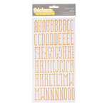 American Crafts - Nightfall Collection - Halloween - Thickers - Puffy Alphabet Stickers - Maple - Pineapple