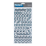 American Crafts - Thickers - Foil Chipboard Alphabet Stickers - Hardcover - Peacock