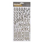 American Crafts - Thickers - Foil Chipboard Alphabet Stickers - Sentiment - Gold