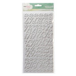 American Crafts - Dear Lizzy Neapolitan Collection - Thickers - Matte Puffy Alphabet Stickers - Splendid - Smoke