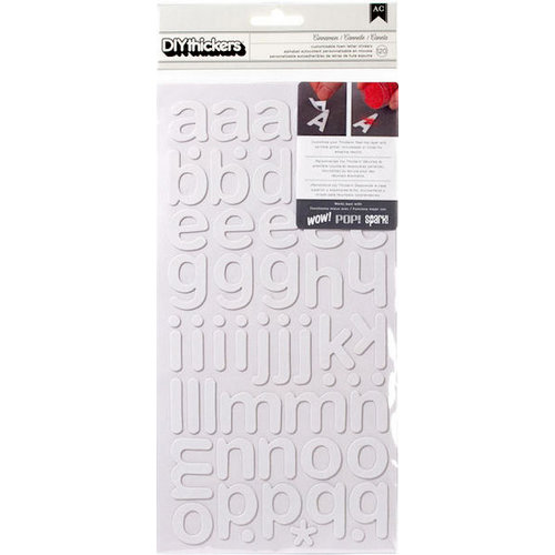 American Crafts - Thickers - DIY - Foam Alphabet Stickers - Cinnamon
