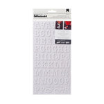 American Crafts - Thickers - DIY - Foam Alphabet Stickers - Roller Rink