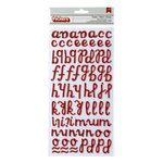 American Crafts - Thickers - Glitter Foam Alphabet Stickers - Freedom - Crimson