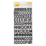 American Crafts - Amy Tangerine Collection - Ready Set Go - Thickers - Corrugated Alphabet Stickers - Daily - Black