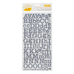 American Crafts - Amy Tangerine Collection - Ready Set Go - Thickers - Printed Chipboard Alphabet Stickers - Everyday - Indigo