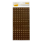 American Crafts - Amy Tangerine Collection - Ready Set Go - Thickers - Chipboard Tile Alphabet Stickers - Weekender - Truffle