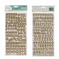 Dear Lizzy - 5th and Frolic Collection - Thickers - Glitter Foam Alphabet Stickers - Fox - Gold