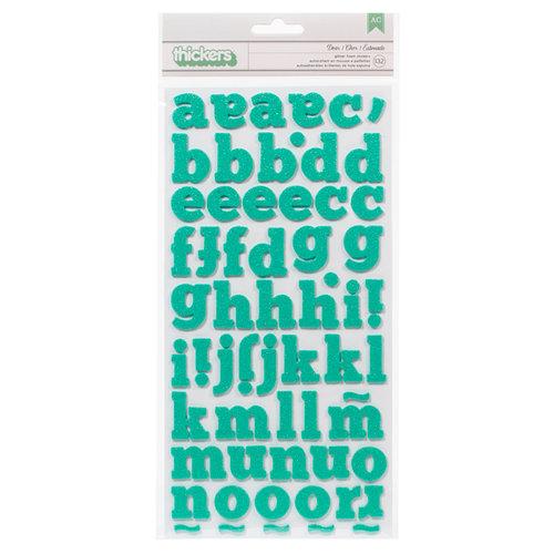 American Crafts Paper - XOXO Collection - Thickers - Glitter Foam - Dear - Robin's Egg