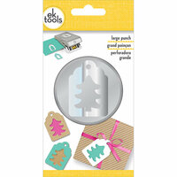 EK Success - EK Tools - Christmas - Large Punch - Double Tree Tag