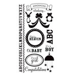 American Crafts - Clear Acrylic Stamp Set - Baby - Large, CLEARANCE