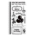 American Crafts - Clear Acrylic Stamp Set - Birthday - Large, CLEARANCE