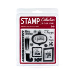 American Crafts - Merrymint Collection - Christmas - Clear Acrylic Stamp Set - Spritz - Small, CLEARANCE