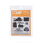 American Crafts - Nightfall Collection - Halloween - Clear Acrylic Stamps - Spooky Night