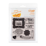 American Crafts - Amy Tangerine Collection - Clear Acrylic Stamps - Love Struck