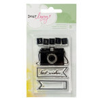 American Crafts - Dear Lizzy Neapolitan Collection - Clear Acrylic Stamps - Camera