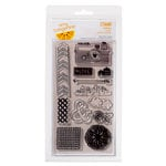 American Crafts - Amy Tangerine Collection - Yes, Please - Clear Acrylic Stamps - Aspire