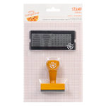 American Crafts - Amy Tangerine Collection - Yes, Please - Calendar Stamp Set - Lovely