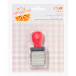 American Crafts - Amy Tangerine Collection - Yes, Please - Phrase Roller Stamp - Authentic