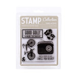 American Crafts - Peachy Keen Collection - Clear Acrylic Stamps - Sing Along