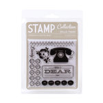 American Crafts - Peachy Keen Collection - Clear Acrylic Stamps - Hello, There