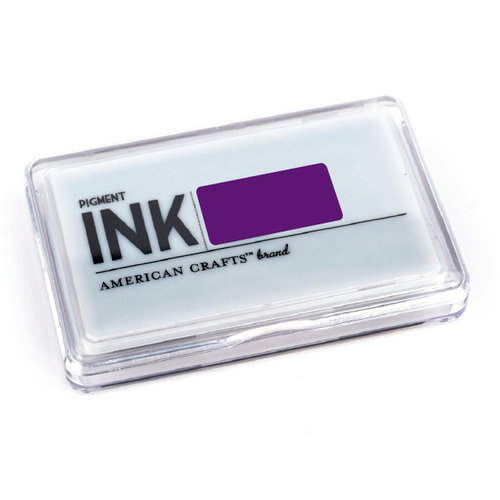 American Crafts - Archival Pigment Ink Stamp Pad - Grape, CLEARANCE