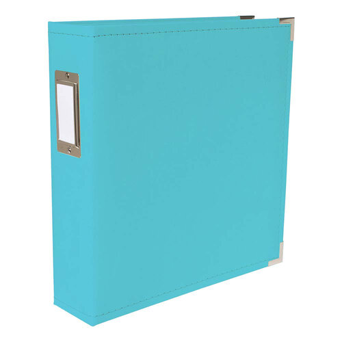 We R Memory Keepers - Classic Leather - 8.5 x 11 - D-Ring Album - Aqua
