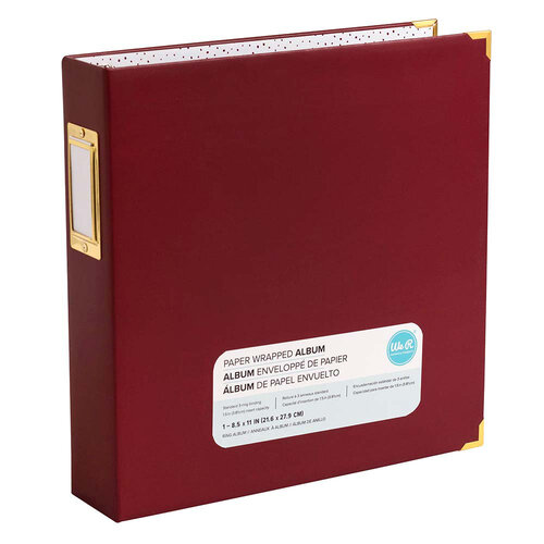 We R Memory Keepers - Paper Wrapped - 8.5 x 11 - D-Ring Album - Maroon