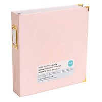 We R Memory Keepers - Paper Wrapped - 8.5 x 11 - D-Ring Album - Pink