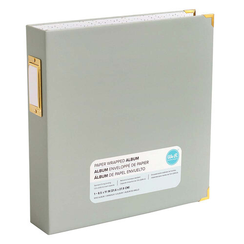 We R Memory Keepers - Paper Wrapped - 8.5 x 11 - D-Ring Album - Slate