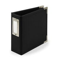 We R Memory Keepers - Classic Leather - 4 x 4 - D-Ring Album - Black