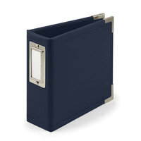 We R Memory Keepers - Classic Leather - 4 x 4 - D-Ring Album - Navy