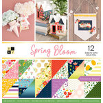 Die Cuts with a View - Spring Bloom Collection - Foil Paper Stack - 12 x 12