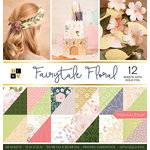 Die Cuts with a View - Fairytale Floral Collection - Foil Paper Stack - 12 x 12