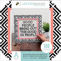 Die Cuts with a View - Letter Board - 12 x 12 - Black and White Pattern
