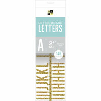 Die Cuts with a View - Letter Board - Letter Packs - 2 Inches - Gold Glitter