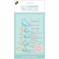 Die Cuts with a View - Letter Board - Word Packs - Glitter
