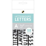Die Cuts with a View - Letter Board - Letter Packs - 0.5 Inches - Black