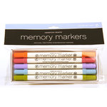 American Crafts - Memory Markers - 5 Pack - Color Set 2