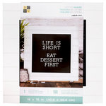 Die Cuts with a View - Letter Board - 16 x 16 - White Frame - Black