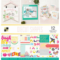 Die Cuts with a View - Diecut Shapes Collection - Foil Paper Stack - 12 x 12