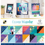 Die Cuts with a View - Ocean Wonder Collection - Foil Paper Stack - 12 x 12