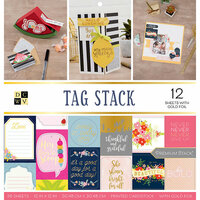 Die Cuts with a View - Tag Stack Collection - Foil Paper Stack - 12 x 12