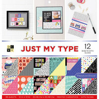 Die Cuts with a View - Just My Type Collection - Gloss Paper Stack - 12 x 12