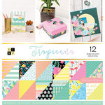 Die Cuts with a View - Tropicana Collection - Foil Paper Stack - 12 x 12