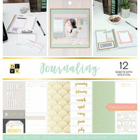 Die Cuts with a View - Journaling Collection - Foil Paper Stack - 12 x 12
