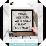 Die Cuts with a View - Letter Board - 12 x 12 - Black Fame - White Marble