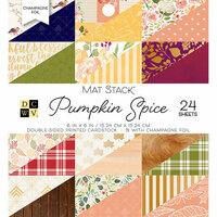 Die Cuts with a View - Pumpkin Spice Collection - Halloween - Foil Paper Mat Stack - 6 x 6