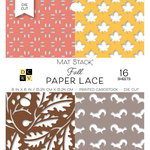 Die Cuts with a View - Fall Paper Lace Collection - Halloween - Die Cut Paper Mat Stack - 6 x 6