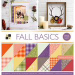 Die Cuts with a View - Fall Basics Collection - Halloween - Foil Paper Stack - 12 x 12